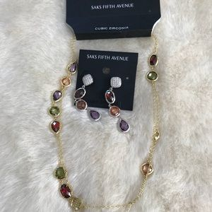 Saks fifth avenue necklace and earrings